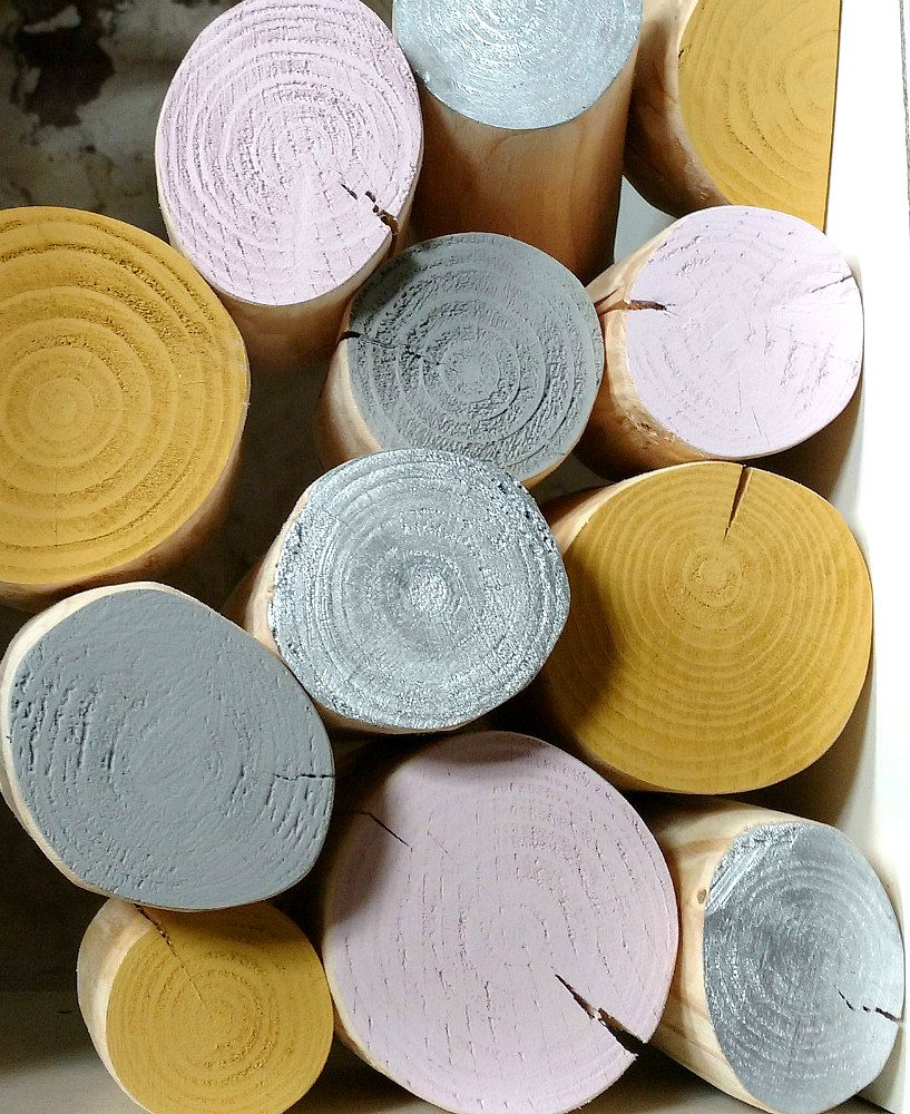 Decorative Logs - BLUSHED OCHRE Colour Mix