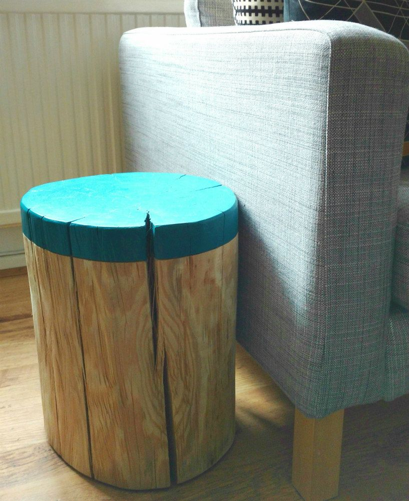 DIPPED EFFECT LOG SIDE TABLE / STOOL